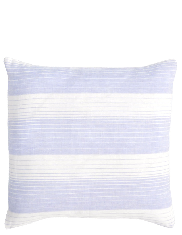 "Lavender: Horizon Stripe Linen Pillow, 17"" in Lavender - LEIF"