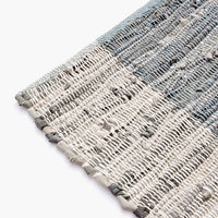 1: Cotton & Leather Weave Rug in  - LEIF