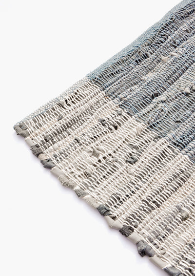 Cotton & Leather Weave Rug