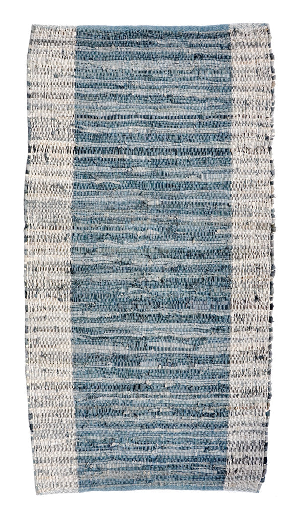 Cotton & Leather Weave Rug - LEIF