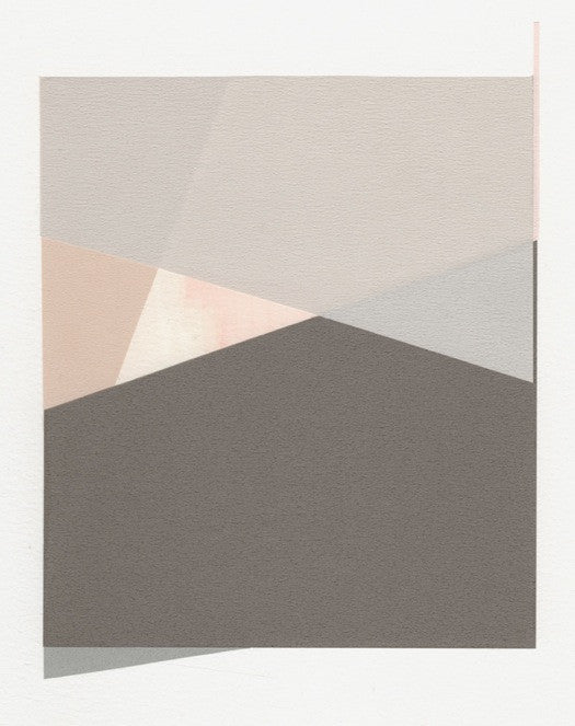 Rectangular Objects Collage, Soft Grey - LEIF