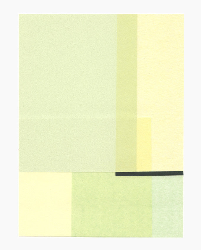 Rectangular Objects Collage, Green Agnes - LEIF