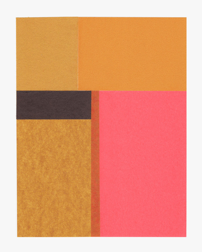 Rectangular Objects Collage, Golden Pink - LEIF