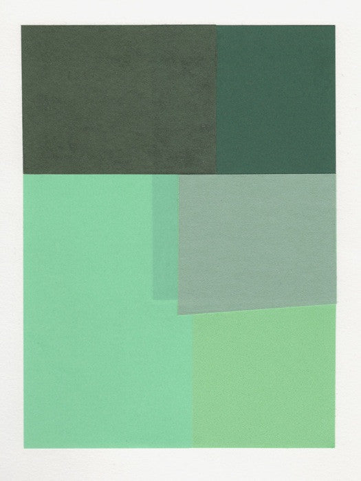 Rectangular Objects Collage, Greens - LEIF