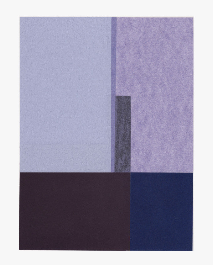 Rectangular Objects Collage, Purples - LEIF