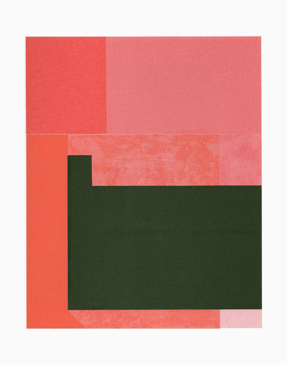 Rectangular Objects, Pink Print - LEIF