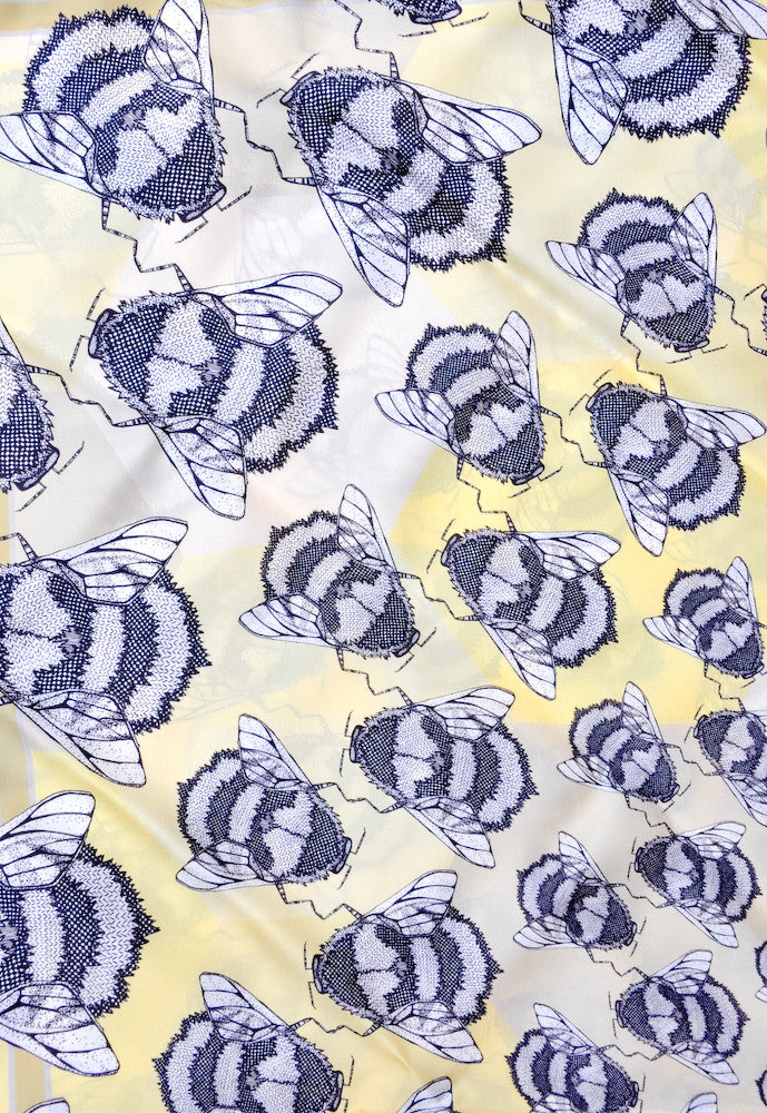 Bee's Knees Square Silk Scarf
