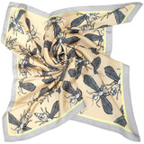 Wild Wasp Square Silk Scarf - LEIF