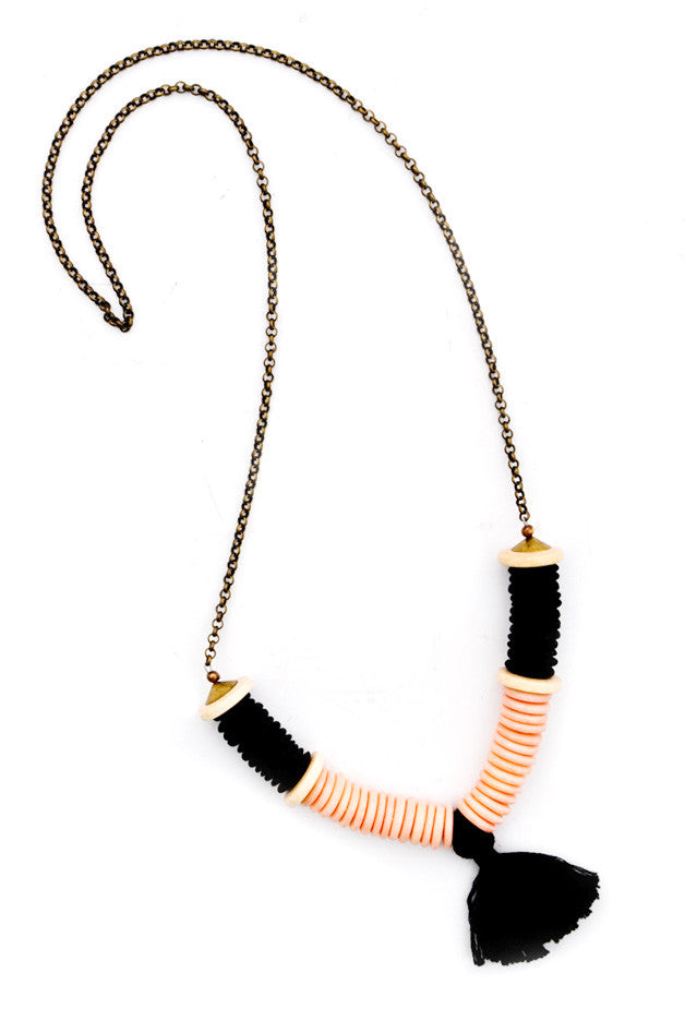 Crest Tassel Necklace