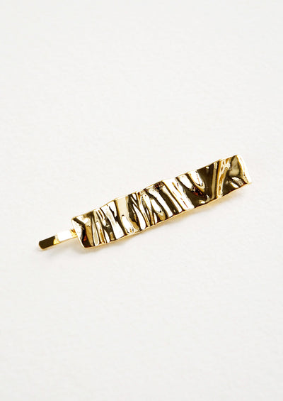 Crinkled Metal Hair Pin