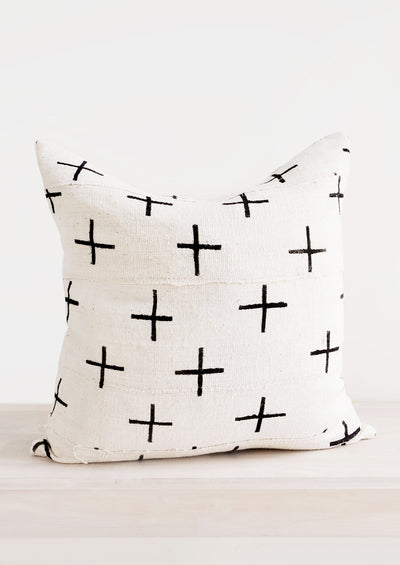 Cross Mudcloth Pillow