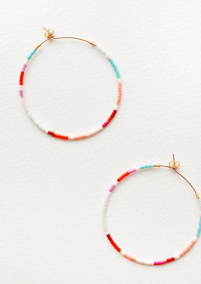 Cruz Beaded Hoop Earrings
