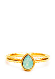 Crystal Teardrop Ring - LEIF