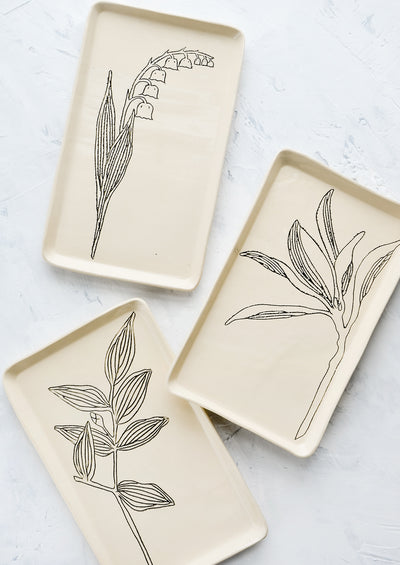 Botanical Ceramic Tray