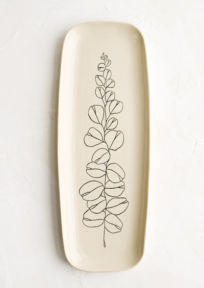 Botanical Ceramic Platter
