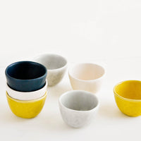 1: Little Hand Built Mini Ceramic Bowls in Mixed Colors - LEIF