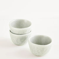 Sea Fog: Little Hand Built Mini Ceramic Bowls in Seafoam - LEIF