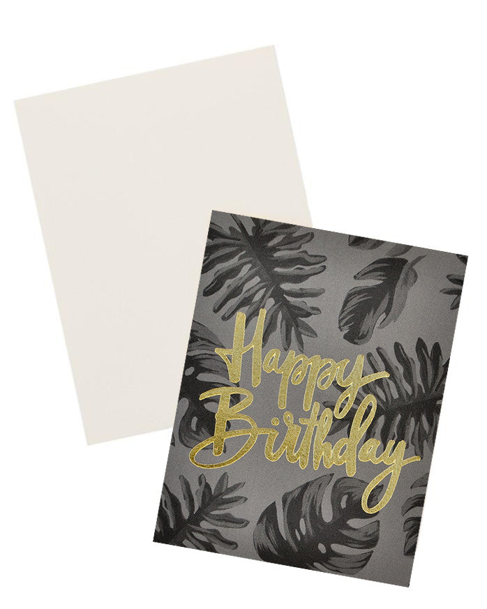2: Dark Tropical Birthday Card in  - LEIF
