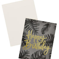 Dark Tropical Birthday Card - LEIF