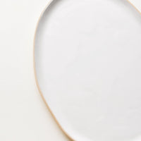Snow: La Classe Ceramic Serving Platter in Snow - LEIF