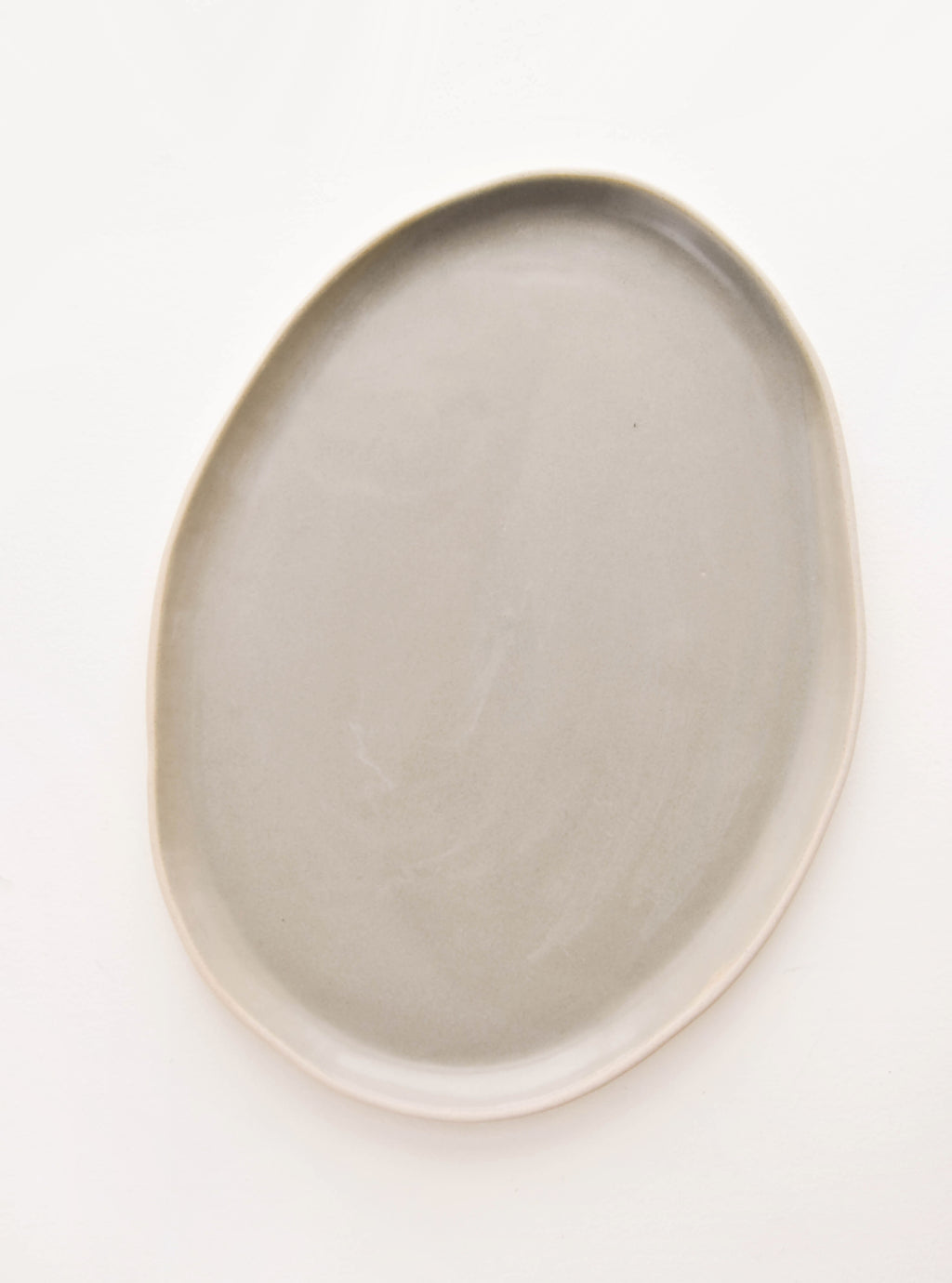 Oyster: La Classe Ceramic Serving Platter in Oyster - LEIF