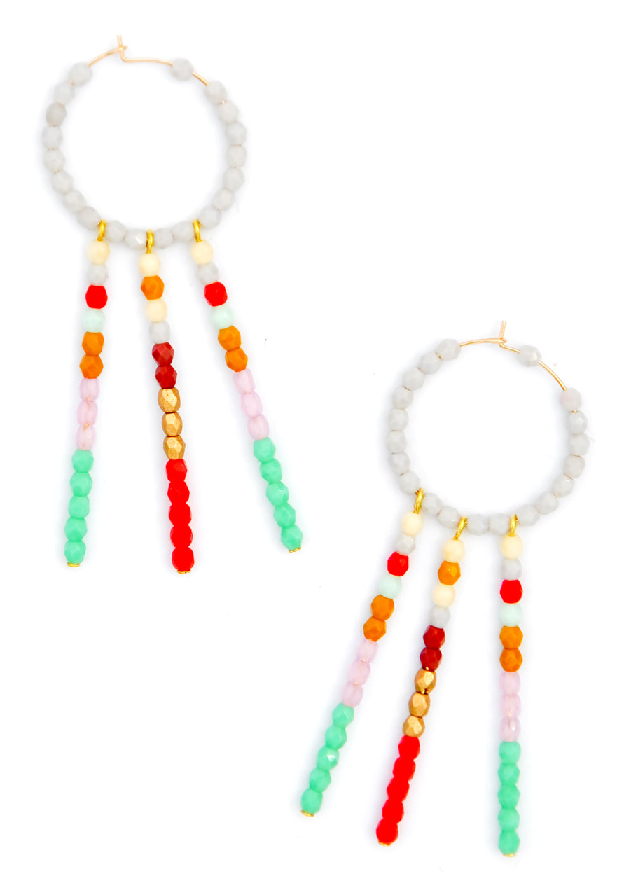 Multi: Daydreamer Beaded Earrings in Multi - LEIF