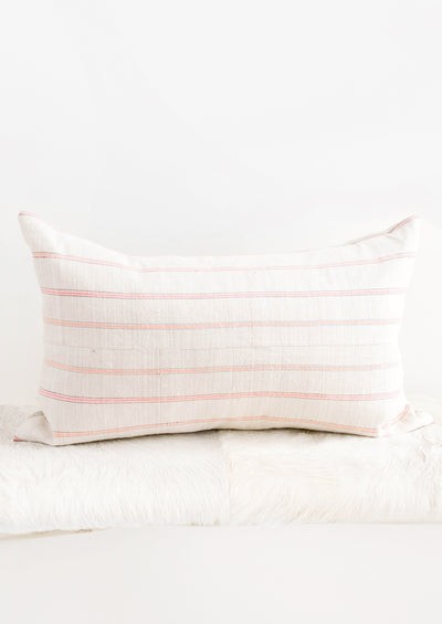 Vintage Hemp Pillow in Day Glo Stripe