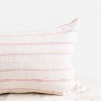 Vintage Hemp Pillow in Day Glo Stripe in  - LEIF