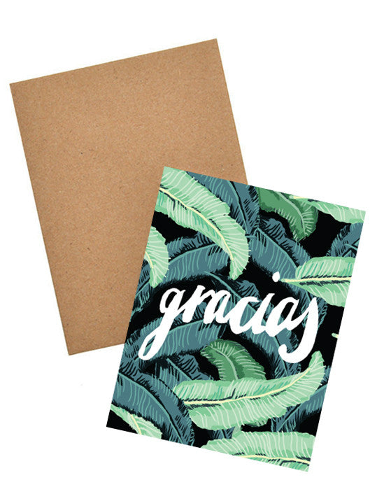 Gracias Tropical Foliage Card Set - LEIF