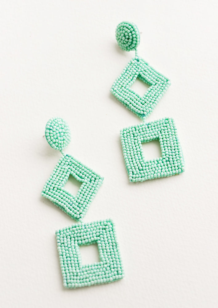 Delano Beaded Earrings in Turquoise - LEIF