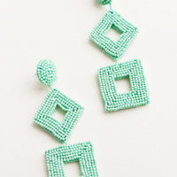 Turquoise: Delano Beaded Earrings in Turquoise - LEIF