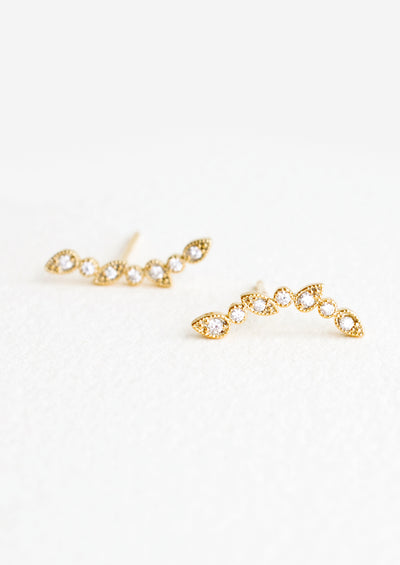 Delhi Climber Stud Earrings in  - LEIF