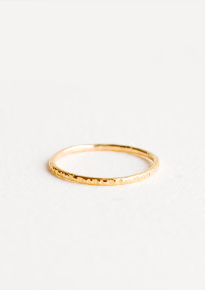 Etched Stacking Ring in  - LEIF