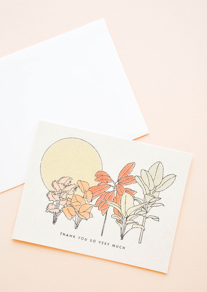 1: Desert Plants Thank You Card in  - LEIF