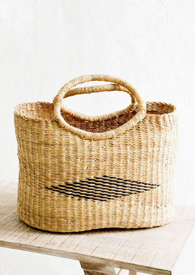 Diamond Elephant Grass Tote