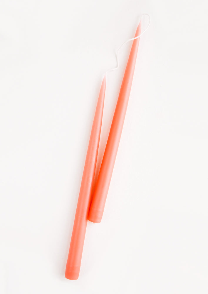Coral: Hand Dipped Taper Candles