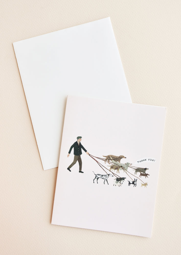1: Dog Walker Thank You Card in  - LEIF