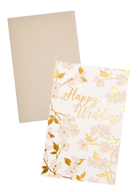 Dogwood Happy Wedding Card - LEIF