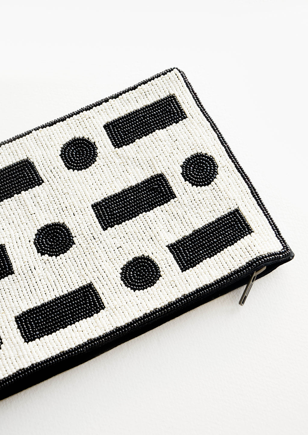 2: Dot Dash Beaded Clutch in  - LEIF