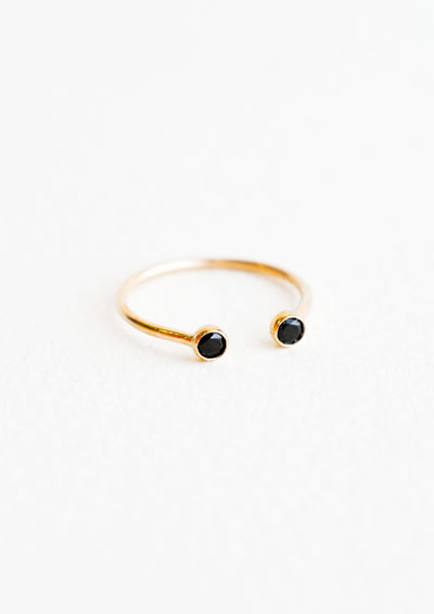 Double Gemstone Bezel Ring