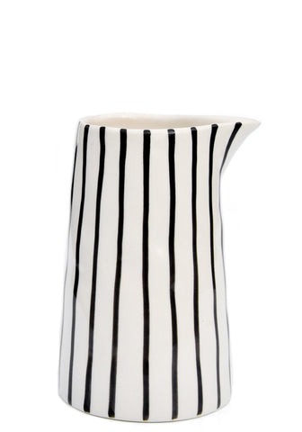 Drawn Stripe Mini Pitcher