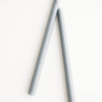 Fog Grey: Pair of taper candles in fog grey