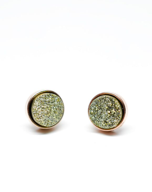 Drusy Dot Stud Earrings