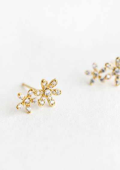 Duo Flower Stud Earrings hover