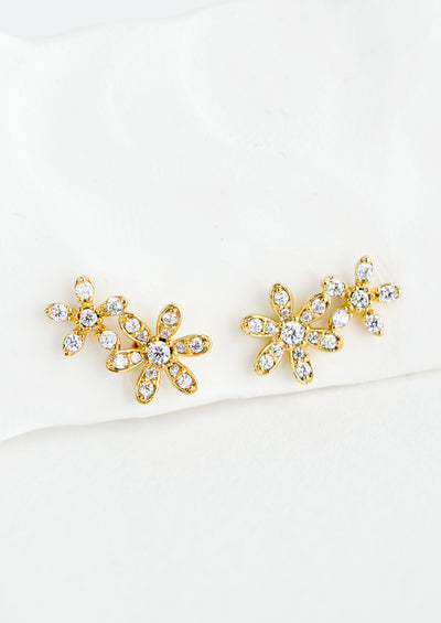 Duo Flower Stud Earrings