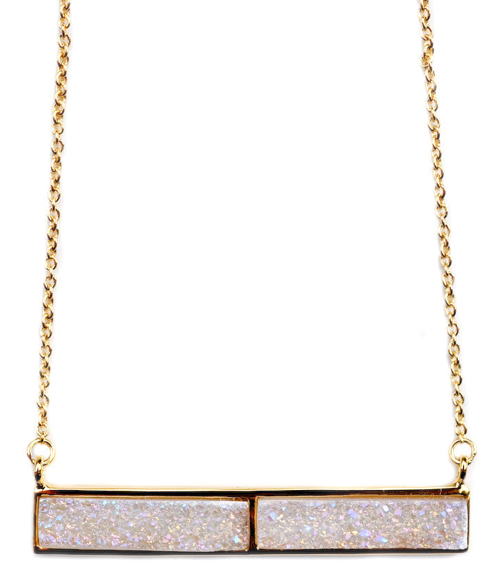 Dusted Drusy Bar Necklace - LEIF