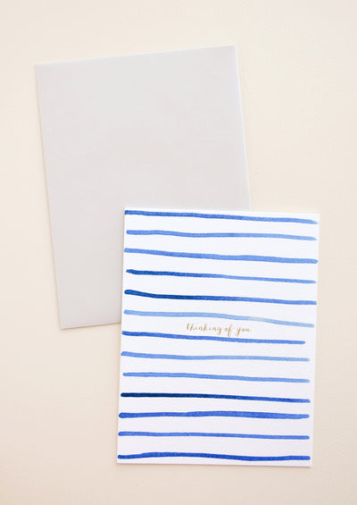 Thinking Of You Stripes Card in  - LEIF
