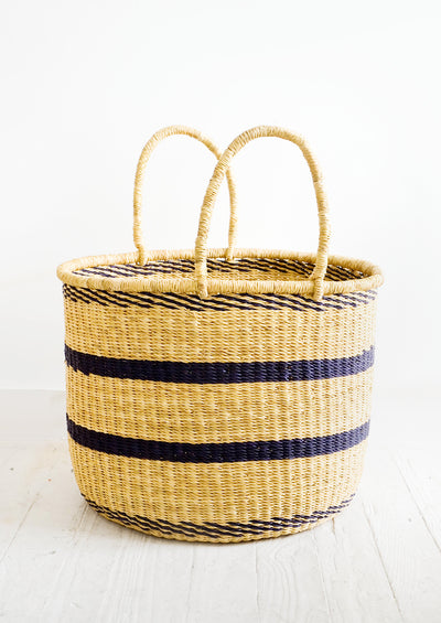 Striped Elephant Grass Basket