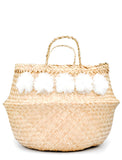 Pom Pom Venice Basket in Natural