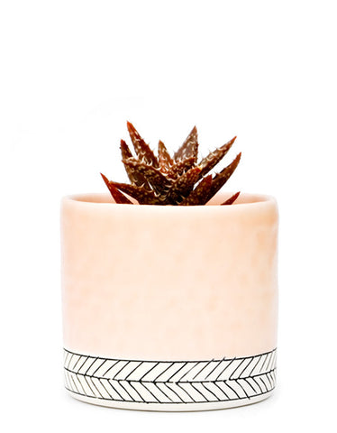 Herringbone Ceramic Planter - LEIF